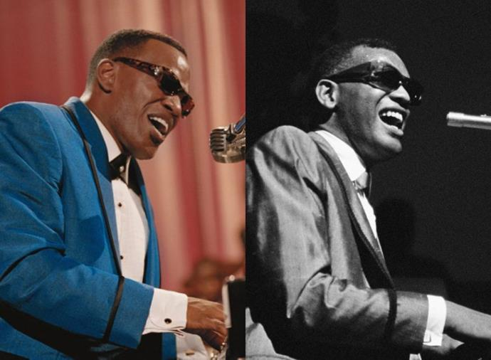 **Jamie Foxx as Ray Charles in** ***Ray*** **(2004)**<br><br>  Despite what looked like an effortlessly unreal transformation, Jamie Foxx undertook intensive measures to more accurately portray soul legend Ray Charles on screen. To embody the blind pianist, Foxx lost nearly 15kg and had his eyes glued shut every day on set. The extreme commitment paid off, with his incredible performance earning Foxx the Academy Award for Best Actor in 2004.
