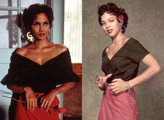 """**Halle Berry as Dorothy Dandridge in** ***Introducing Dorothy Dandridge*** **(1999)**<br><br>  A passion project that produced one of her best-ever performances, [Halle Berry](https://www.harpersbazaar.com.au/health-fitness/halle-berry-diet-exercise-19567