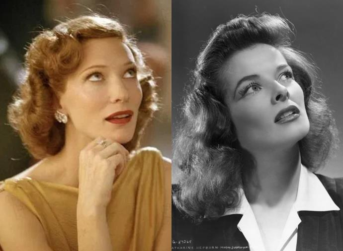 """**Cate Blanchett as Katharine Hepburn in** ***The Aviator*** **(2004)**<br><br>  [Leading Australian actress](https://www.harpersbazaar.com.au/beauty/australian-actresses-before-after-20135