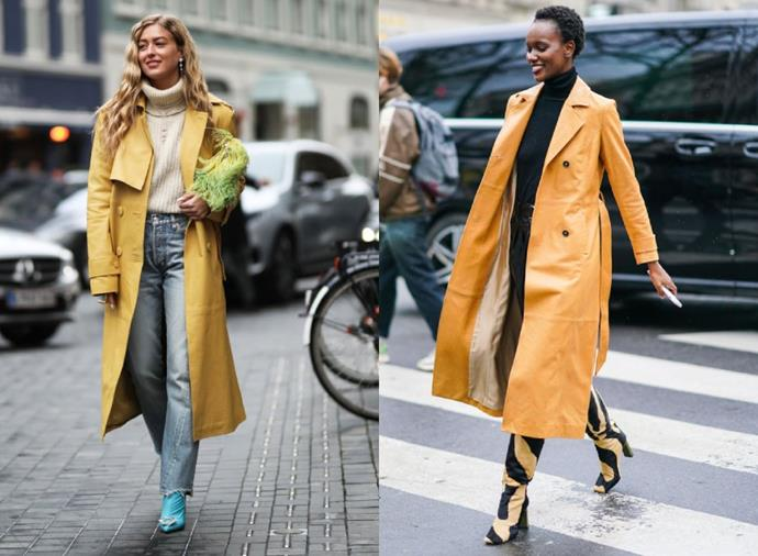 **Shades Of Sunshine**<br><br>  From golden yellow tones to rich, sunset oranges, sunshine shades are having a moment when it comes to coats. The ideal antidote winter's typically bleak weather, it's certain to brighten up both your mood and your wardrobe.