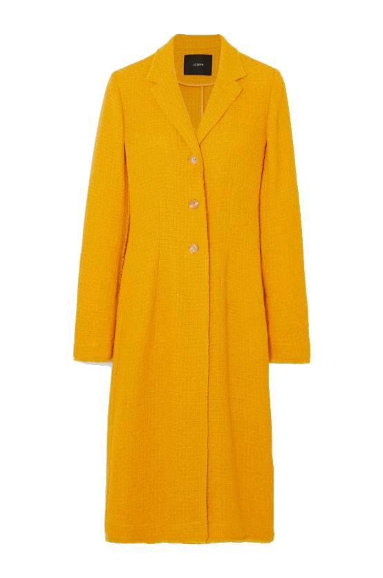 "**Shades Of Sunshine**<br><br>  'Cierra' tweed coat by Joseph, $1,221 at [NET-A-PORTER](https://fave.co/2BdwLG8|target=""_blank""
