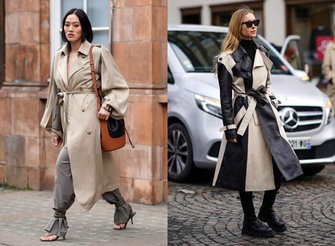 "**Trenches With A Twist**<br><br>  Timeless yet refreshed, [this season's trench coat](https://www.harpersbazaar.com.au/fashion/best-trench-coats-australia-20026|target=""_blank"") is all about the 'twist'. Be it elegant shoulder accents, subtle sleeve slits or tonal colour-blocking, unexpected design details are taking centre stage."
