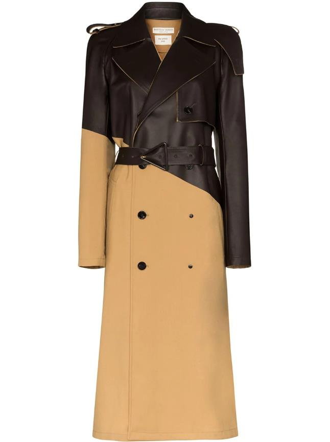 "**Trenches With A Twist**<br><br>  Panelled trench coat by Bottega Veneta, $6,615 at [Farfetch](https://fave.co/2Yz8NNI|target=""_blank""