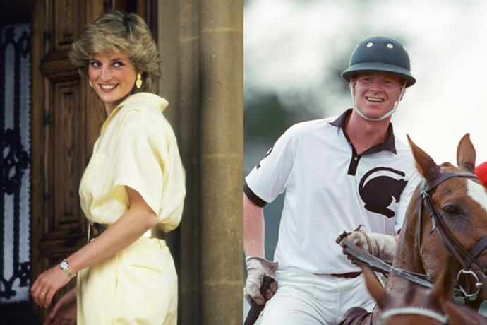 """**Princess Diana, James Hewitt and Prince Charles**<br><br>  James Hewitt, a polo player and British cavalry officer, first met Princess Diana at a party in 1986, where he apparently offered to help get over her fear of horses. Eventually, horse riding lessons led to an affair. Diana admitted to the affair with Hewitt in a 1995 interview, saying: """"Yes, I adored him. Yes, I was in love with him. But I was very let down.""""<br><br>  Hewitt also spoke about their five-year liaison to writer Anna Pasternak, who penned the book *Princess In Love* following his stories. Speculation has long been rife that [James is Prince Harry's real father](https://www.news.com.au/entertainment/celebrity-life/royals/james-hewitt-says-he-is-not-prince-harrys-dad-in-sunday-night-exclusive/news-story/719ce379eb9aeb0a4e41079e29cd083d target=""""_blank"""") as the pair do share a resemblance, but the polo player has stated that there's """"no possibility whatsoever"""" of that being the case, as Harry was born in 1984.<br><br>  """"I have never encouraged these comparisons and although I was with Diana for a long time, I must state once and for all that I'm not Harry's father,"""" he [said](https://www.dailystar.co.uk/news/latest-news/james-hewitt-prince-harry-son-17139764 target=""""_blank"""" rel=""""nofollow""""). """"When I met Diana, he was already a toddler.""""<br><br>  The pair were forced apart when he was deployed to serve in the Gulf War, with their affair officially ending after it was exposed in the media."""