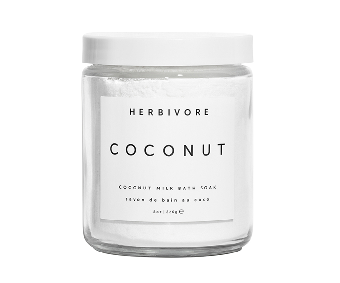 "**Coconut Bath Soak by Herbivore Botanicals, $28.46 at [Revolve](https://www.revolveclothing.com.au/herbivore-botanicals-coconut-bath-soak/dp/HRBR-WU11/|target=""_blank""