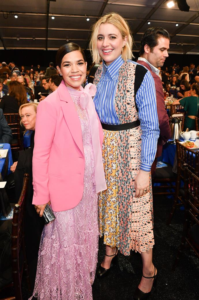 "**America Ferrera** (left) is 155cm, or 5""1', tall."