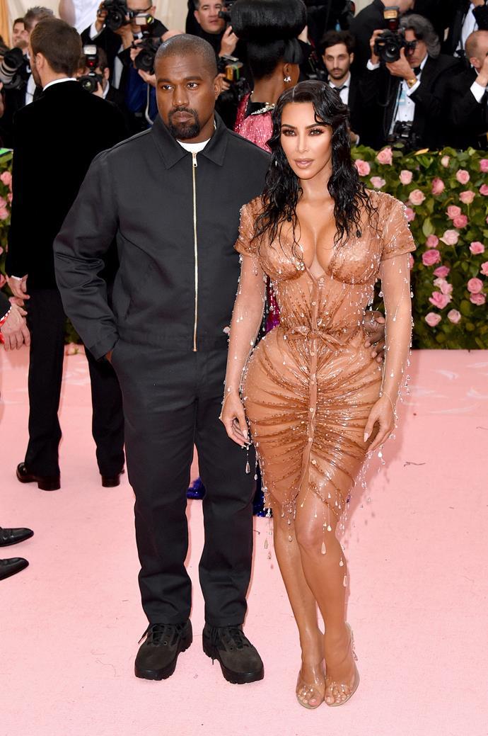 "**Kim Kardashian** (right) is 157cm, or 5""2', tall."