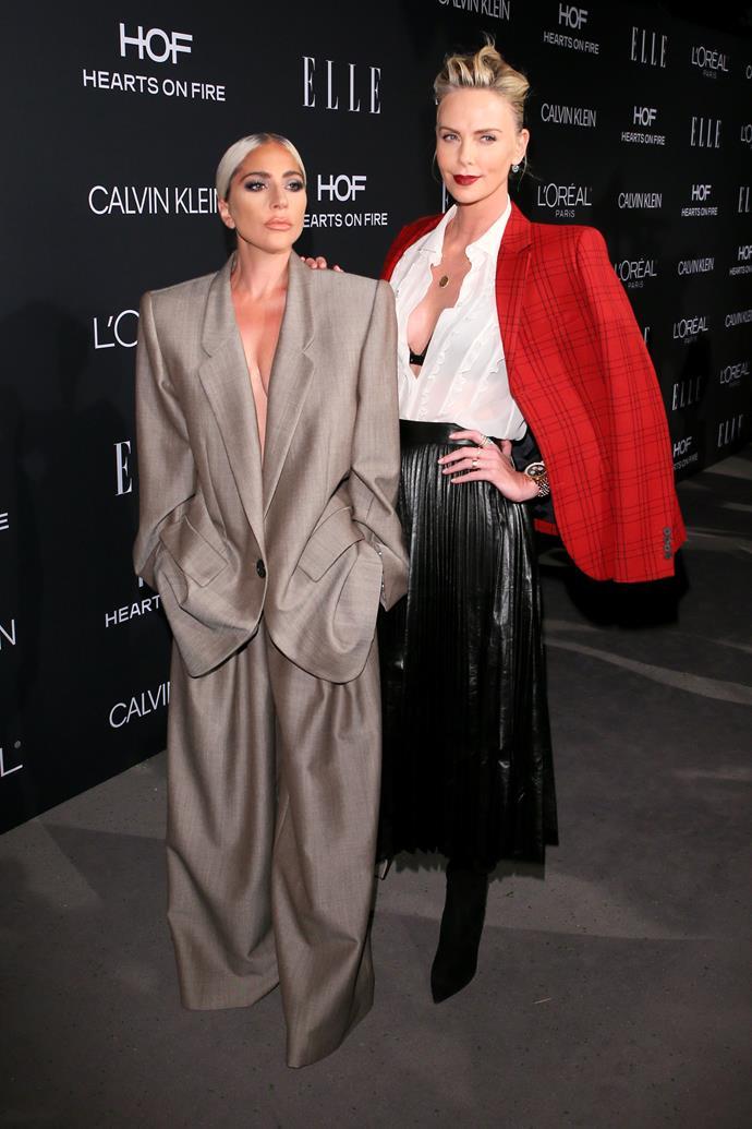 "**Lady Gaga** (left) is 155cm, or 5""1', tall."