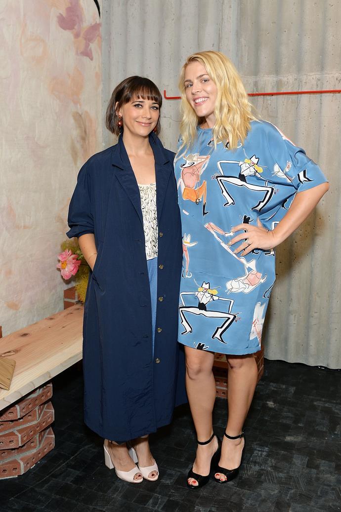 "**Rashida Jones** (left) is 163cm, or 5""4', tall."