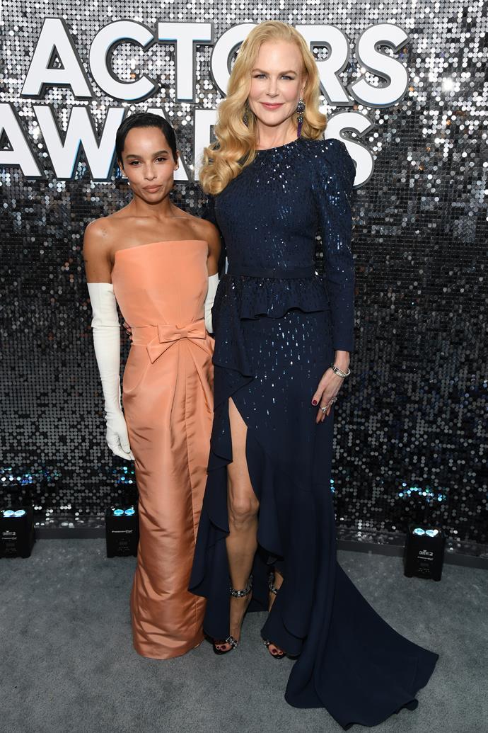 """**Zoë Kravtiz** (left) is 157cm, or 5""""2', tall."""