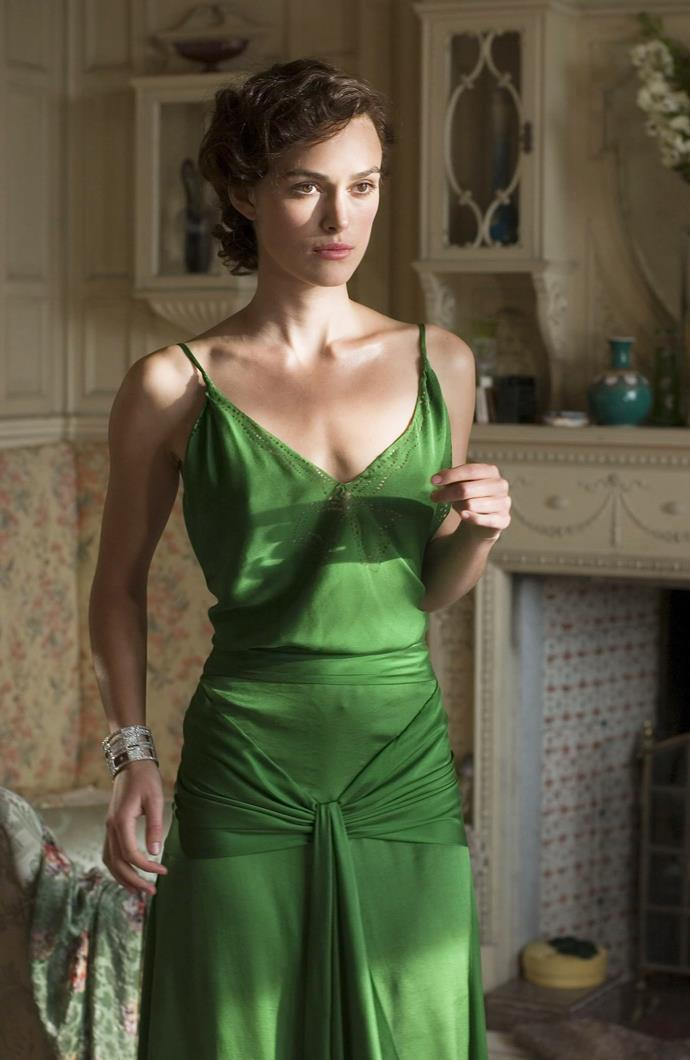 Keira Knightley in 2007's *Atonement*.