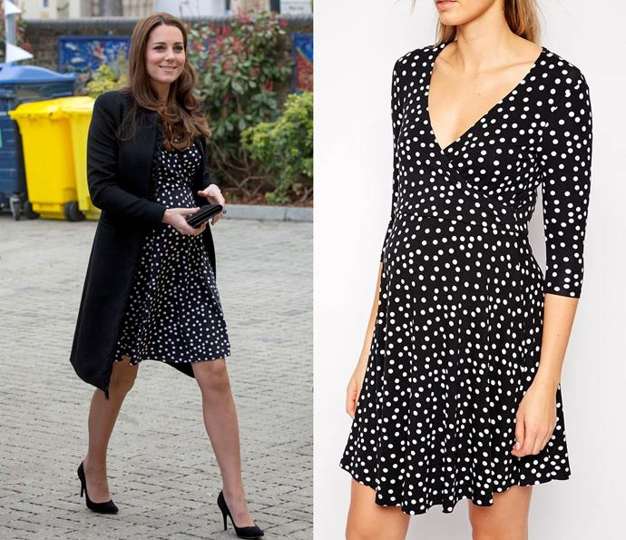 While pregnant with Princess Charlotte, Kate had no problem making this $82 Asos Maternity dress look effortlessly chic.