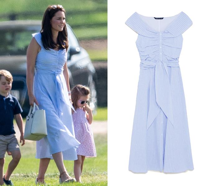 To watch Prince William play polo with her children, Kate wore this $99 ZARA dress.