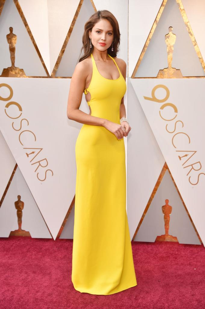 Eiza González attending the 90th Annual Academy Awards in 2018.