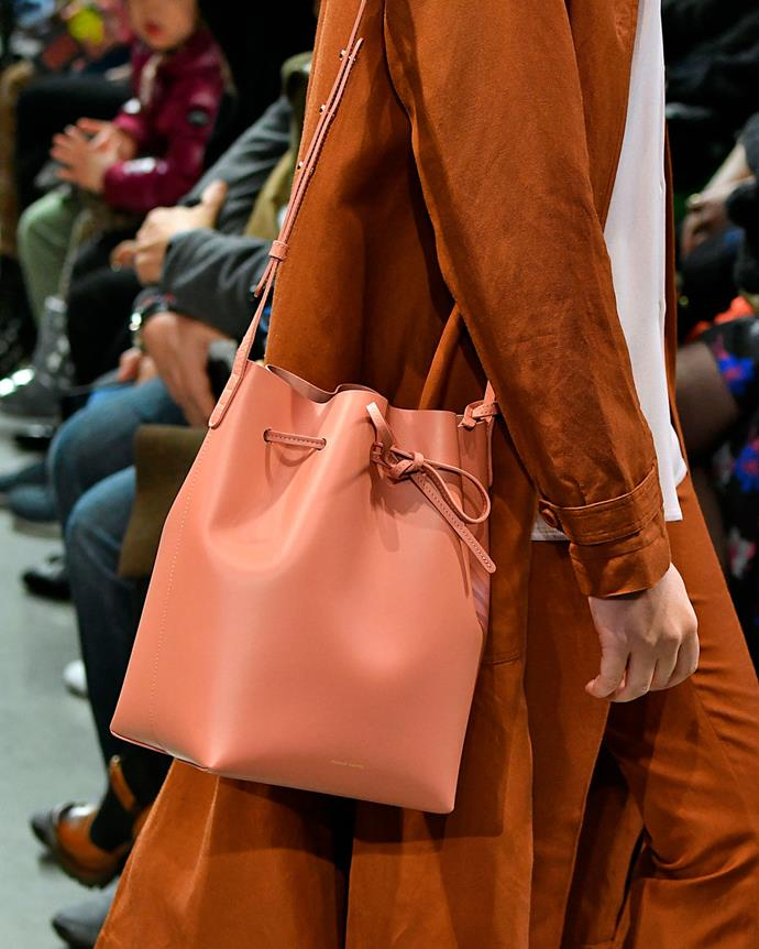 ***2014: Mansur Gavriel's Bucket bag***<br><br> Pictured: The bucket bag on the autumn/winter 2018 runway.