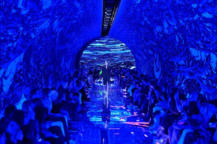 **Balenciaga spring/summer '19** <br><br> In a show matching creative director Demna Gvasalia's out-of-the-box vision, Balenciaga's spring/summer '19 show was held in a light-up LED tunnel with striking graphics changing by the minute. Maybe not the best option for seizure-prone attendees, but for everyone else, it was an unforgettable moment.