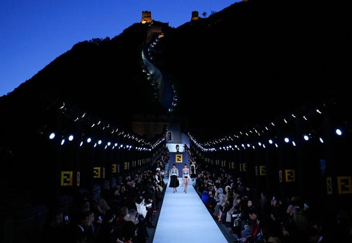 """**Fendi autumn/winter '07** <br><br> We all know Karl Lagerfeld was partial to a showstopping [show set](https://www.harpersbazaar.com.au/fashion/karl-lagerfeld-show-sets-18137
