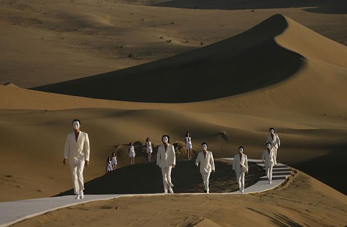 """**Pierre Cardin spring/summer '07** <br><br> Looking like a still from the movie *[Dune](https://www.harpersbazaar.com.au/culture/dune-movie-2020-20161