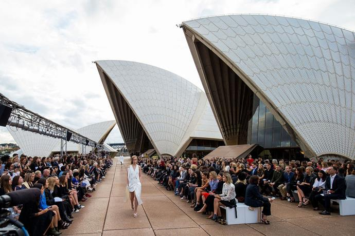 **Dion Lee resort 2018** <br><br> In 2018, Australian designer Dion Lee went where no Australian fashion designer had gone before—he booked the base of the Sydney Opera House for his last resort show held on Australian soil before decamping to New York Fashion Week.