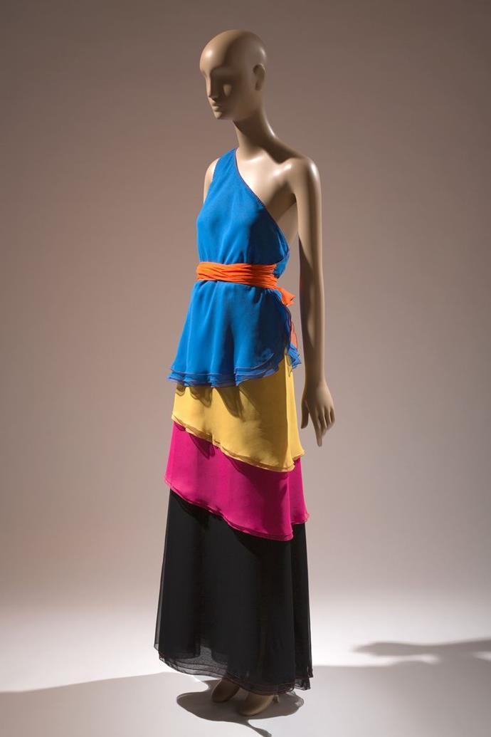 Stephen Burrows two-piece evening dress, 1973–74.
