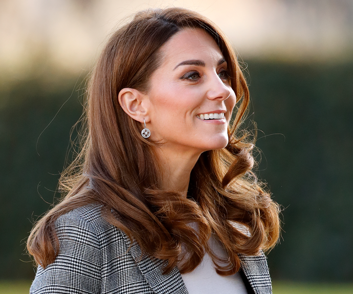 Middleton's classic blow-dry style Via: Getty Images