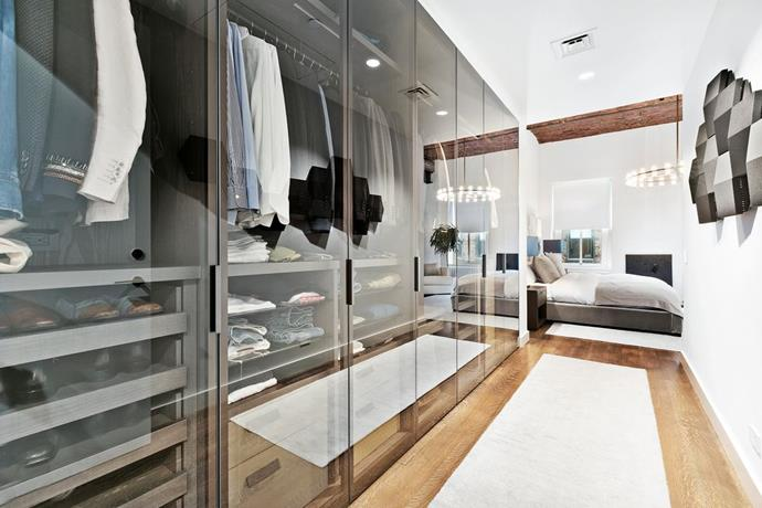 The walk-in wardrobe leading to the master bedroom. <br> *Corcoran*