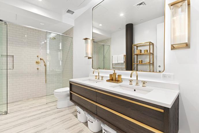 The master bathroom, featuring a walk-in shower. <br> *Corcoran*