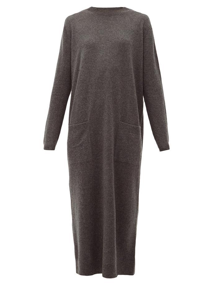 "Pocket-front cashmere midi dress, $637 by RAEY at [MatchesFashion](https://www.matchesfashion.com/au/products/Raey-Pocket-front-cashmere-midi-dress-1237977|target=""_blank""|rel=""nofollow"")."