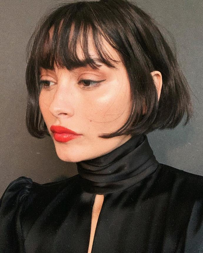 """**THE FRENCH GIRL BOB**<br><br>  **Delaney Loane, Beauty Writer at** ***Harper's BAZAAR Australia:***<br><br>  """"As opposed to the more classic short style previously popularised by Parisians (a bob teamed with brow-skimming bangs), the fresher form allows for a little more creative license. Rather, the defining factors of the [2020 French-girl bob](https://www.harpersbazaar.com.au/beauty/french-girl-bob-hairstyle-20427