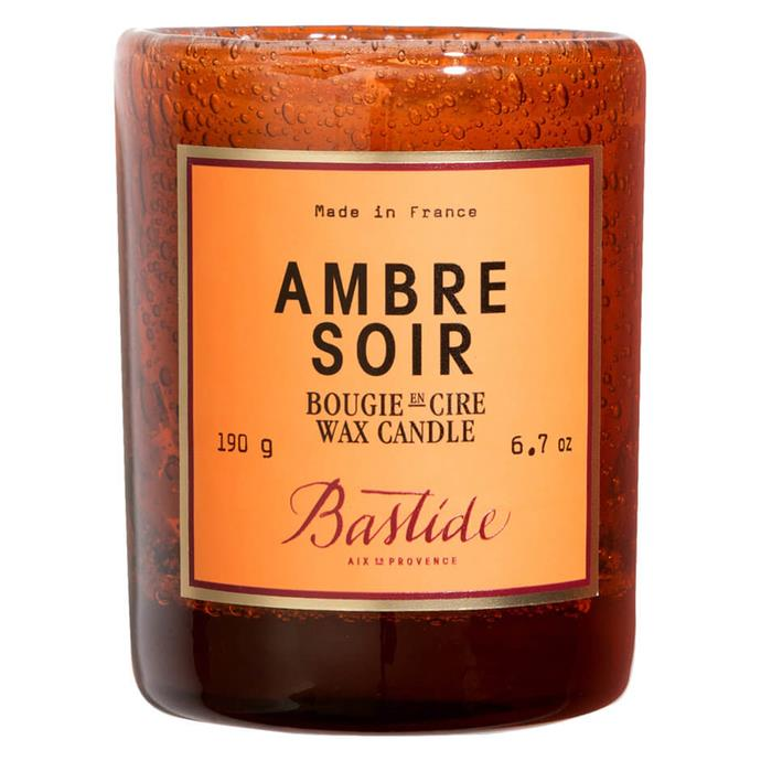 "Ambre Soir Candle, $98 by Bastide at [MECCA](https://www.mecca.com.au/bastide/ambre-soir-candle/I-030117.html|target=""_blank""