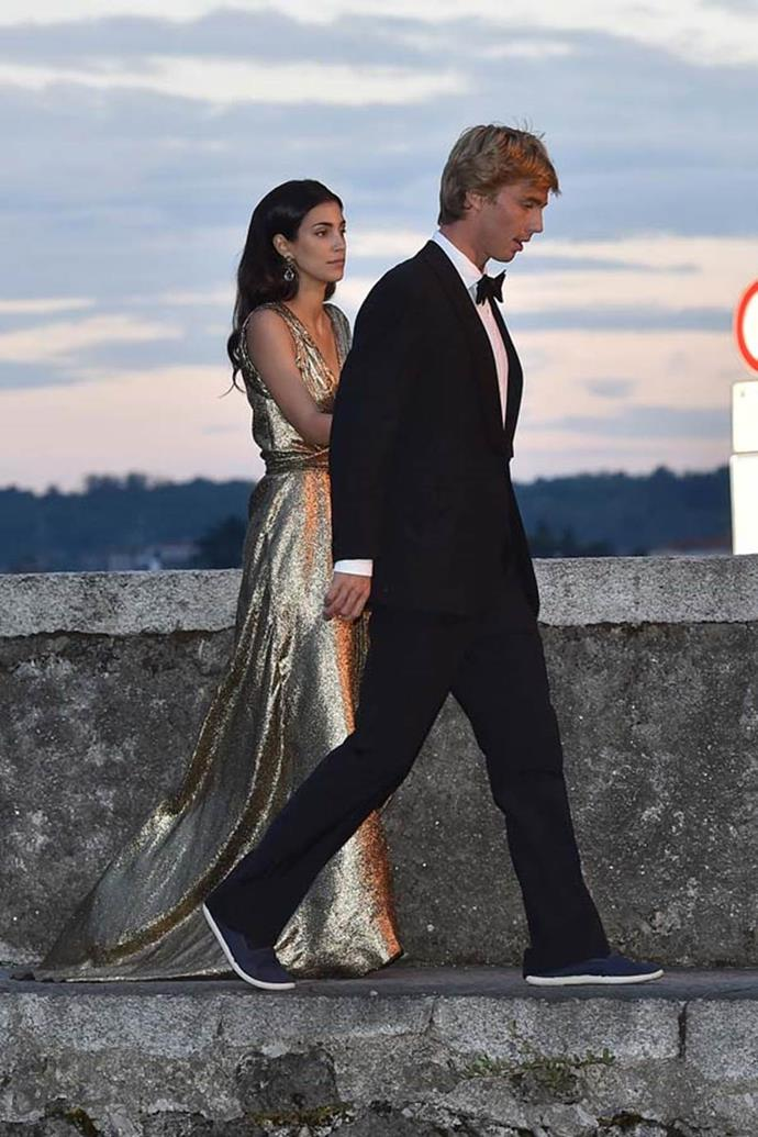Unnamed guests attending the wedding of Beatrice Borromeo and Pierre Casiraghi in 2015.