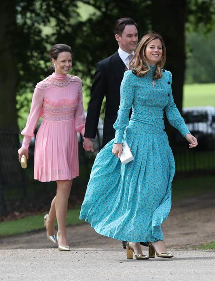 Unnamed guests attending the wedding Of Pippa Middleton and James Matthews in 2017.