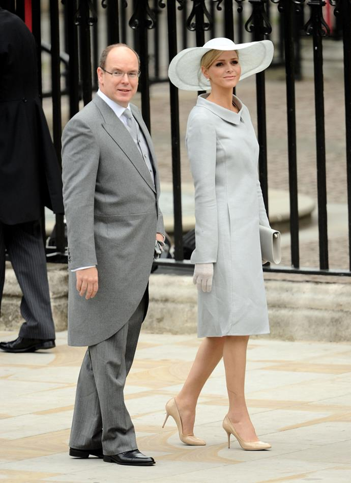 Princess Charlene of Monaco (and Prince Albert of Monaco) attending the wedding of Prince William and Catherine Middleton in 2011.
