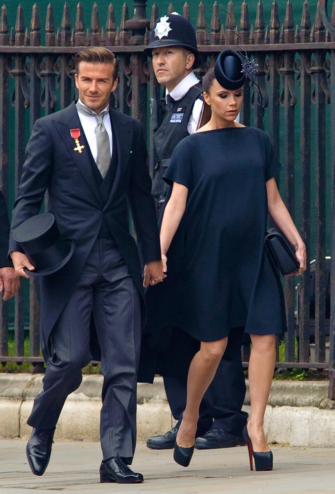 Victoria Beckham, in Victoria Beckham, (and David Beckham) attending the wedding of Prince William and Catherine Middleton in 2011.