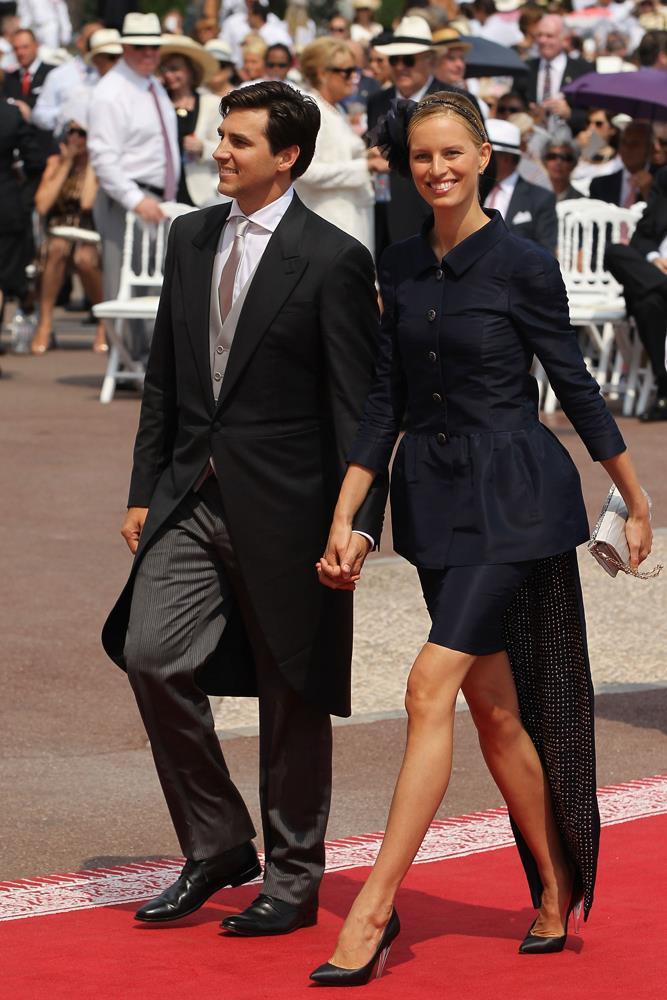 Karolina Kurkova attending wedding of Prince Albert II of Monaco and Charlene Wittstock in 2011.
