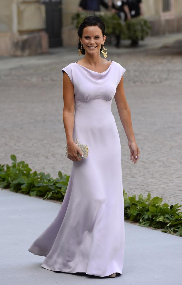 Sofia Hellqvist attending the wedding of Princess Madeleine of Sweden and Christopher O'Neill in 2013.