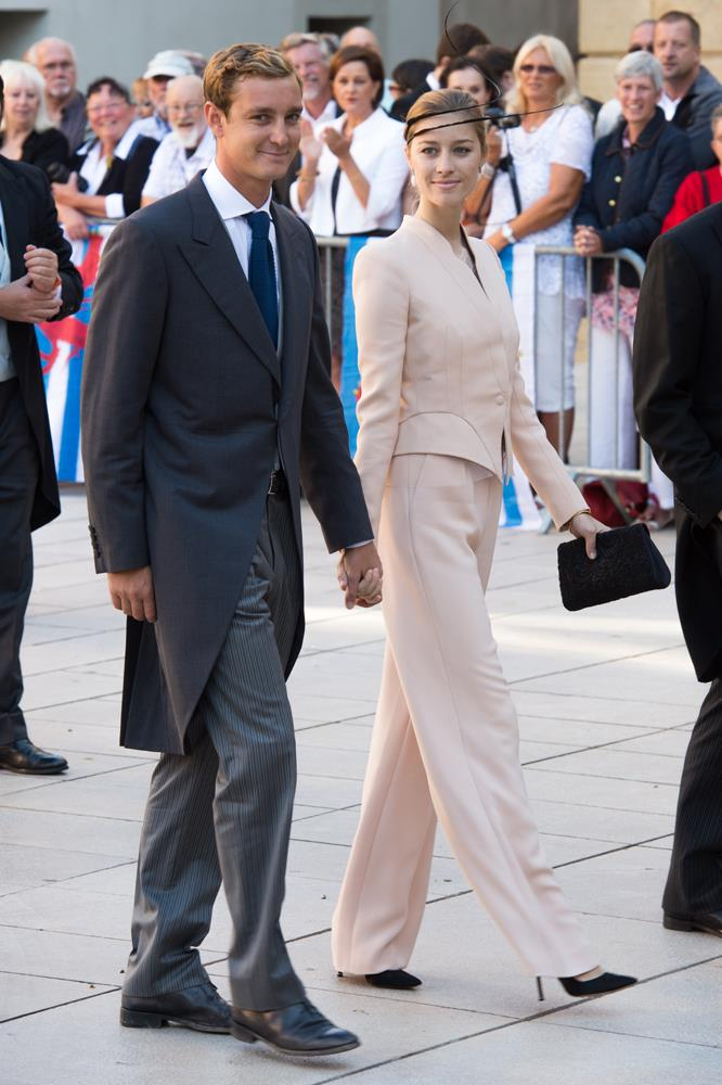 Beatrice Borromeo (and Pierre Casiraghi) attending wedding of Prince Felix Of Luxembourg and Claire Lademacher in 2013.