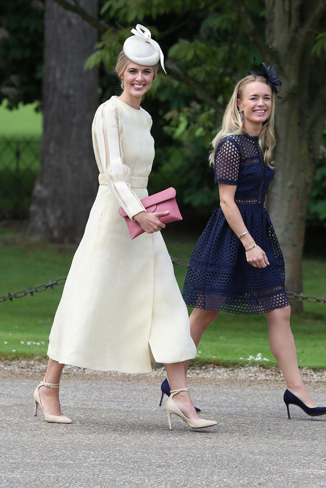 Donna Air, in Emilia Wickstead, attending the wedding Of Pippa Middleton and James Matthews in 2017.