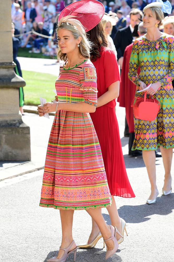 Cressida Bonas, in Eponine London, attending the wedding of Prince Harry and Meghan Markle in 2018.
