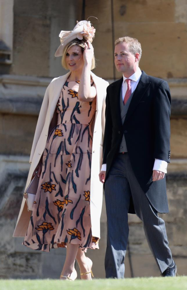 Elizabeth Wilson (and Guy Pelly) attending the wedding of Prince Harry and Meghan Markle in 2018.
