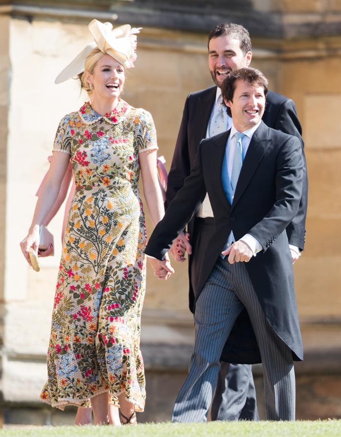 Sofia Wellesley and James Blunt attending the wedding of Prince Harry and Meghan Markle in 2018.