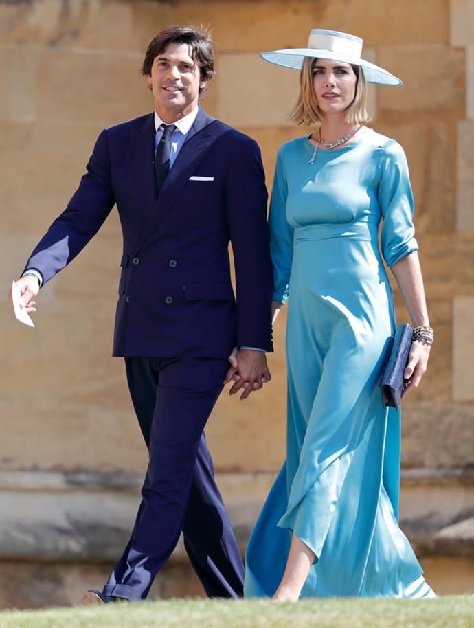 Delfina Blaquier (and Nacho Figueras) attending the wedding of Prince Harry and Meghan Markle in 2018.