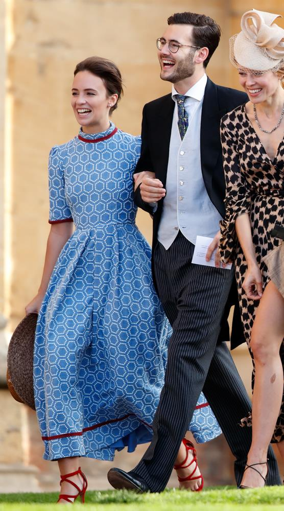 Princess Nora zu Oettingen-Oettingen und Oettingen-Spielberg and Lord Max Percy attending the wedding of Princess Eugenie of York and Jack Brooksbank in 2018.