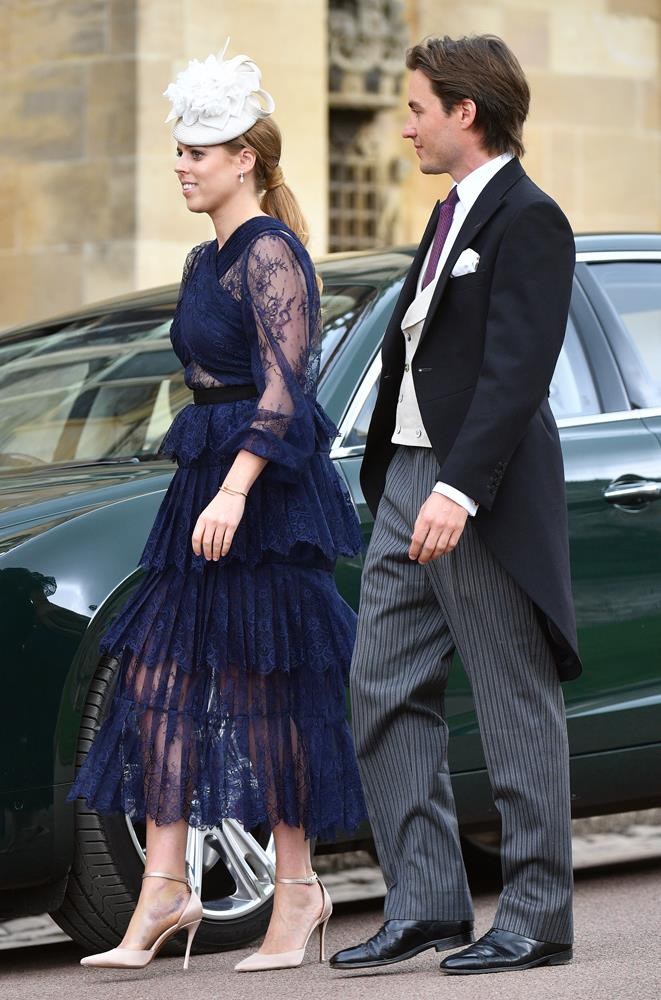 Princess Beatrice attending the wedding of Lady Gabriella Windsor and Thomas Kingston in 2019.