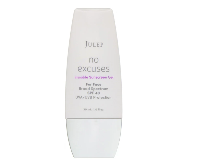 "**No Excuses Invisible Sunscreen Gel by Julep, $34.41 at [iHerb](https://au.iherb.com/pr/Julep-No-Excuses-Invisible-Sunscreen-Gel-SPF-40-1-fl-oz-30-ml/93602|target=""_blank""