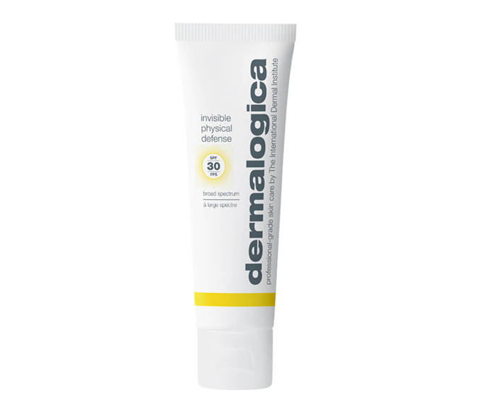 "**Invisible Physical Defense SPF30, $77 by [Dermalogica](https://www.dermalogica.com.au/invisible-physical-defense-spf30/260,en_AU,pd.html|target=""_blank""