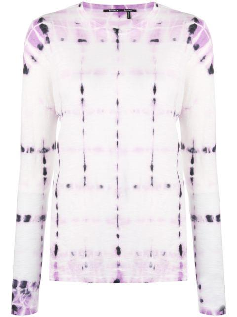 "Tie-dyed Slub Cotton-Jersey Top, $256 by Proenza Schouler at [The Outnet](https://www.theoutnet.com/en-au/shop/product/proenza-schouler/tops/long-sleeved-top/tie-dyed-slub-cotton-jersey-top/1890828705009559|target=""_blank""|rel=""nofollow"")."