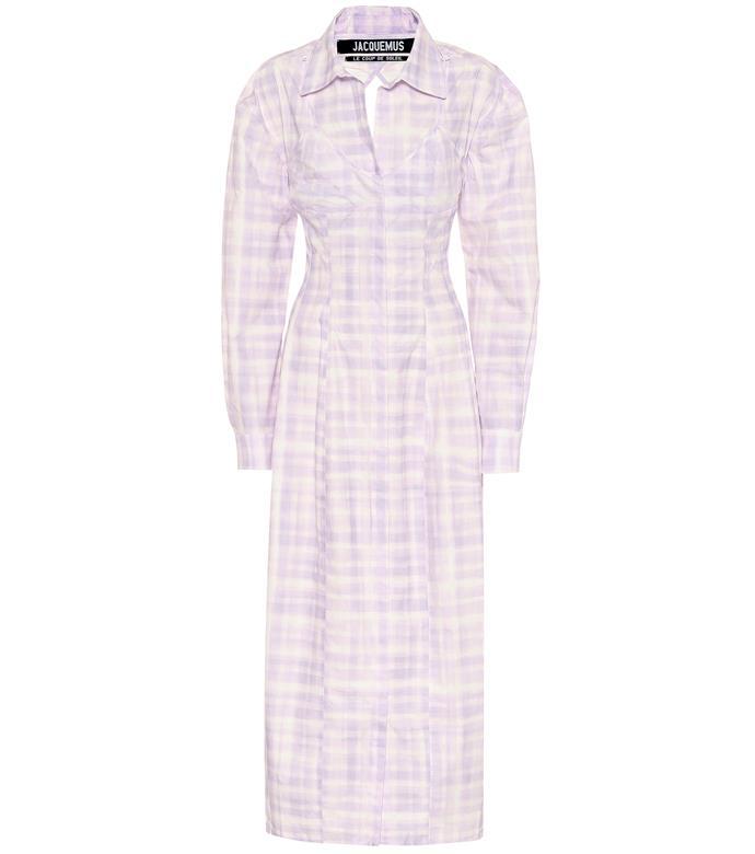 "La Robe Valensole Shirt Dress, $3675 by Jacquemus at [MyTheresa](https://www.mytheresa.com/en-au/jacquemus-la-robe-valensole-cotton-shirt-dress-1435956.html?catref=category|target=""_blank""|rel=""nofollow"")."