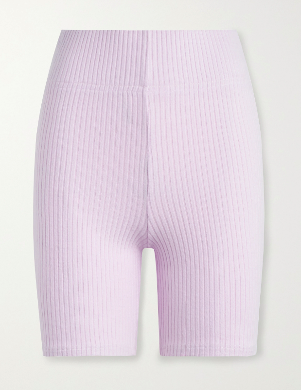 "Alison Ribbed Bike Shorts, $148.51 by Leset at [Net-A-Porter.](https://www.net-a-porter.com/en-au/shop/product/leset/alison-ribbed-stretch-knit-shorts/1232555|target=""_blank""|rel=""nofollow"")"
