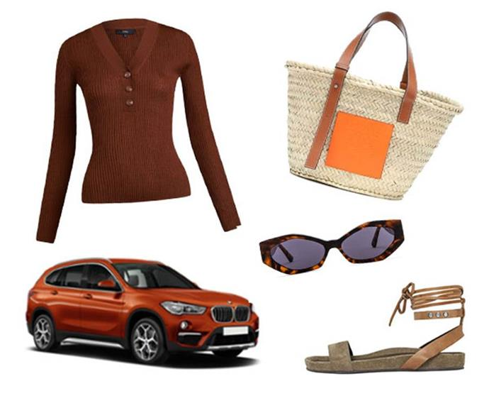 "**THE ESSENTIALS**<br><br>  While your destination will have no shortage of delicious cuisine and things to do, no road trip is complete without a set of stylish wheels, a versatile knit, elegant shades and some chic sandals made for exploring. Bon voyage!<br><br>  *From left to right, clockwise: Knit Top, $134.25 by [SABA](https://www.saba.com.au/jac-long-sleeve-rib-henley-knit-9352560109008.html|target=""_blank""